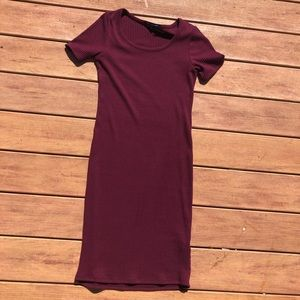 one clothing Dresses - Maroon Sweater Dress